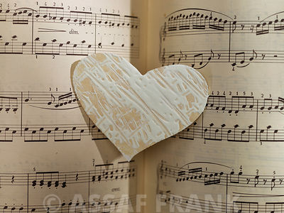 Heart on music book