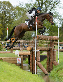Rebecca Howard and RIDDLE MASTER - Cross Country phase, Mitsubishi Motors Badminton Horse Trials 2014