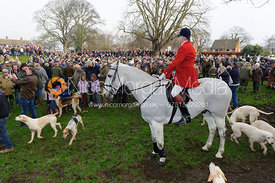 Andrew Osborne MFH and the Oakham crowds - The Cottesmore Hunt's Boxing Day meet 2013.