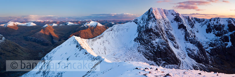 BP2923 (Ben Nevis and the Carn Mor Dearg arête at sunset)