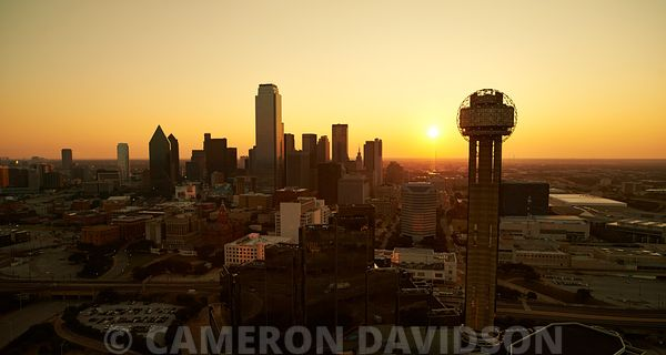 Aerial photograph of the Dallas, Texas Skyline