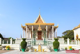 Temple of the Emerald Buddha, silver pagoda, Phnom Penh