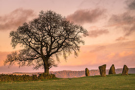 Peak District Stone Circles, Henges and Lows - royalty free stock images