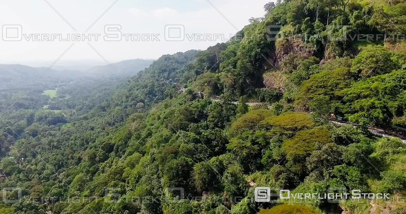 Aerial View of Rainforest in Sri Lanka, Filmed by Drone