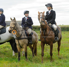 Becci Woolley at the meet - The Cottesmore Hunt at Toft 27/10