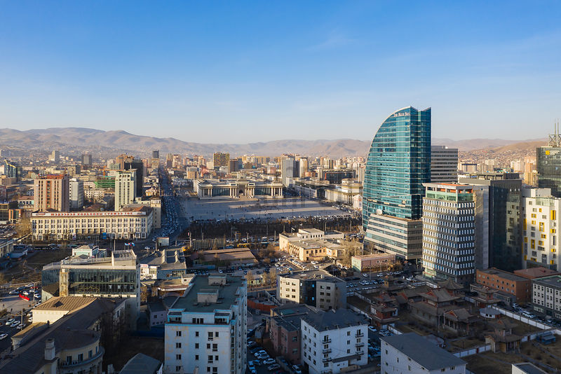 Aerial View of Central Ulaanbaatar