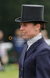 Chloe Newton and NEWMARKET VASCO ONE - dressage phase,  Land Rover Burghley Horse Trials, 6th September 2013.