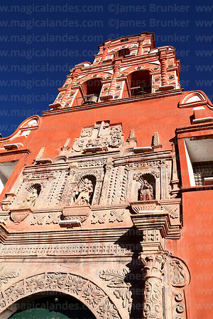 Detail of entrance facade of Santa Teresa convent, Potosí, Bolivia