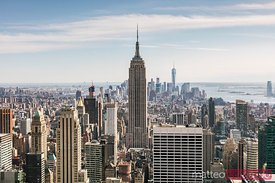 Empire State building and Manhattan skyline, New York city, USA