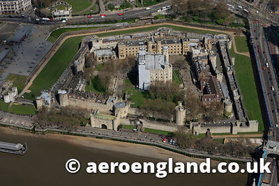 aerial photograph of the Tower of  London UK