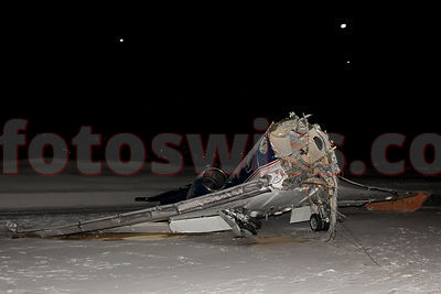 Crash Aircraft at Samedan Airport photos