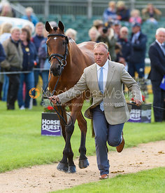 Bruce Davidson Jr and PARK TRADER at the trot up, Land Rover Burghley Horse Trials 2018