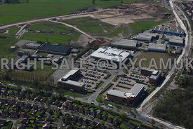 Manchester aerial photograph  of the old Ferranti Electronics factory and Atlas Business Park Simonsway Manchester Airport Wythenshaw
