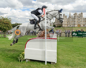 Wills Goodhew and TREFILAN QUICKSILVER - cross country phase,  Land Rover Burghley Horse Trials, 7th September 2013.