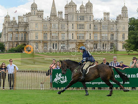 Clare Lewis and SIDNIFICANT - cross country phase,  Land Rover Burghley Horse Trials, 7th September 2013.