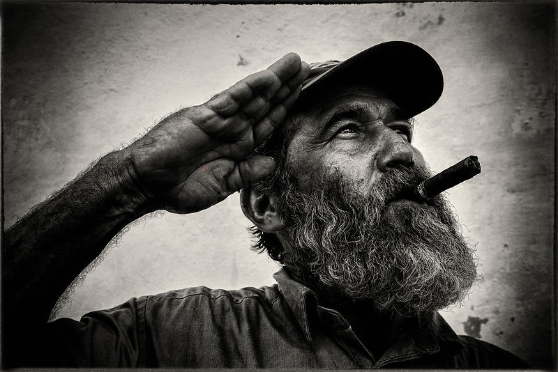 Cuban Soldier Saluting