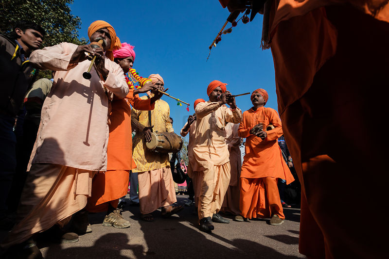 Musicians Playing During Bikaner Camel Festival