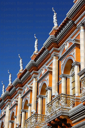 Facade of the Casa Dorada / Golden Palace , Tarija , Bolivia