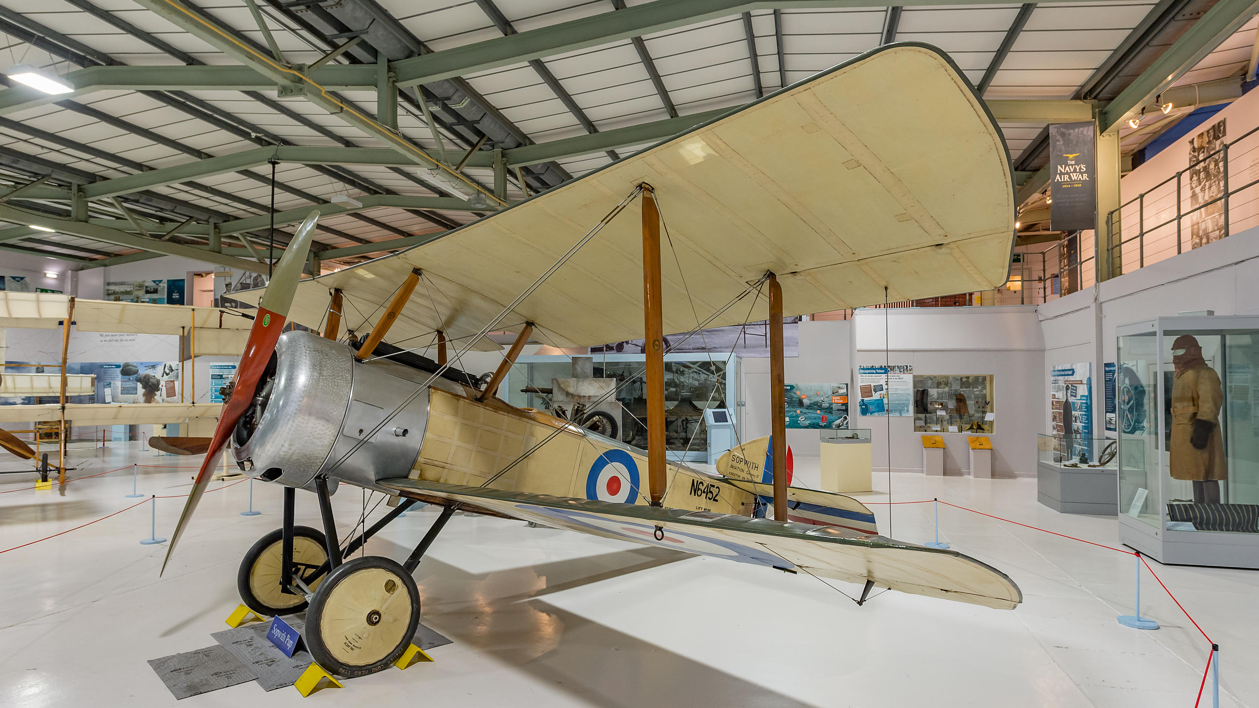 Tiger Moth Aeroplane at the Fleet Air Arm Museum,