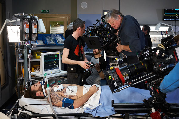 Behind the scenes unit photography on the set of Casualty