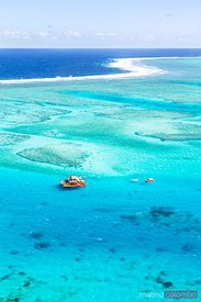 Aerial view of Cloud 9, Malolo barrier reef, Mamanucas, Fiji