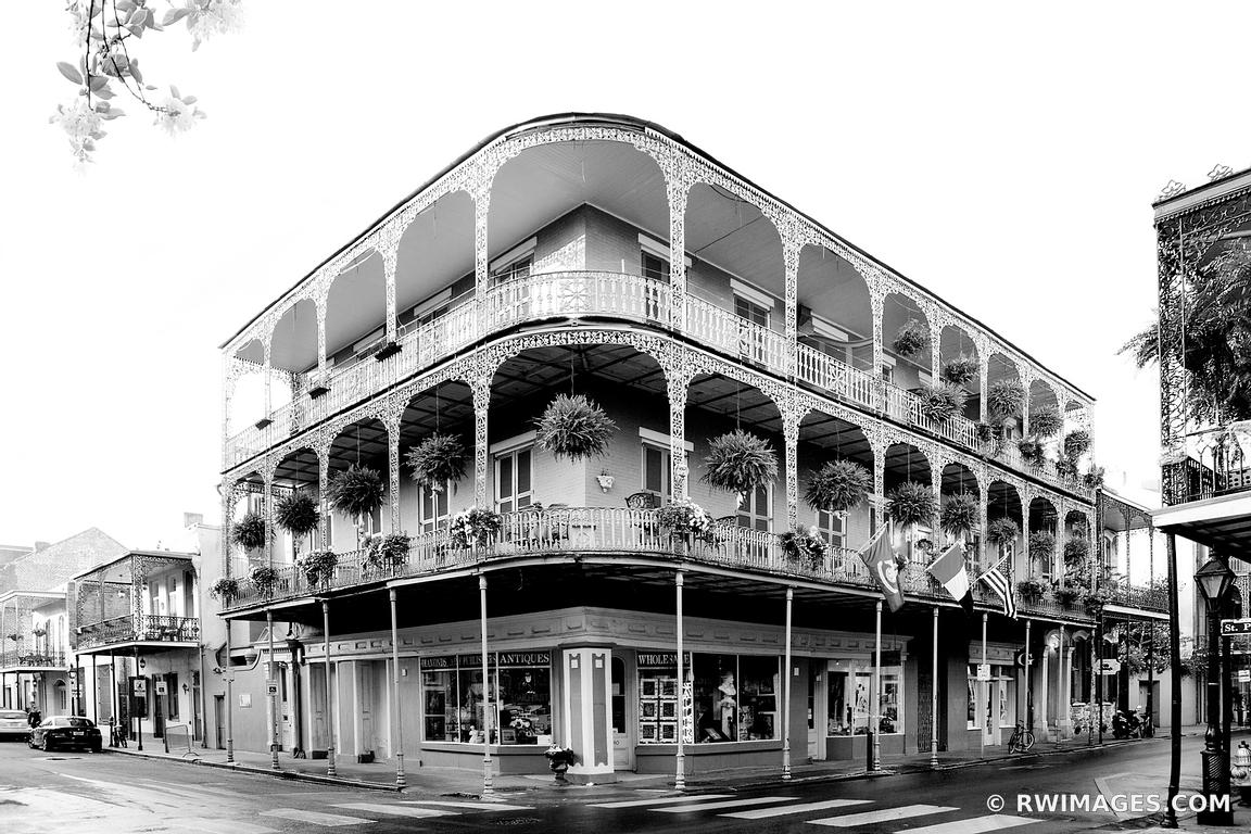 Framed Photo Print Of Building With Balcony French Quarter