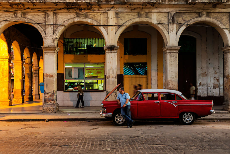 Broken Down Car in Havana Street