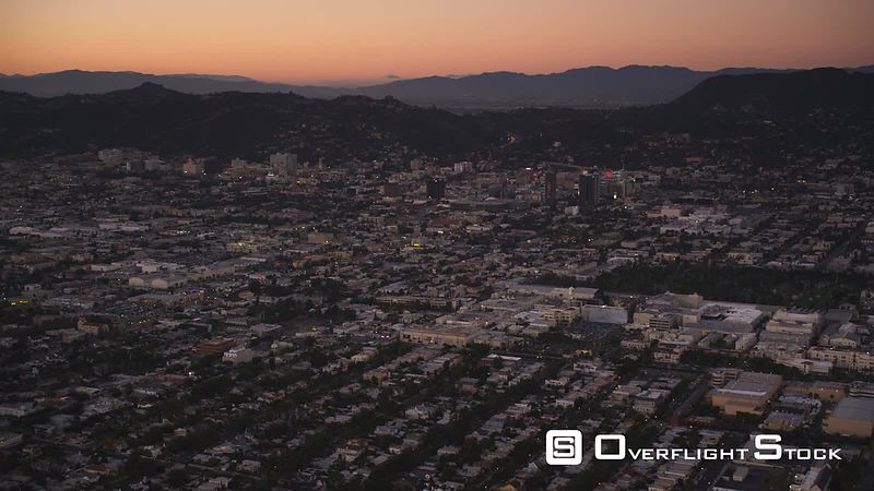 Over Los Angeles in evening light. Shot in October