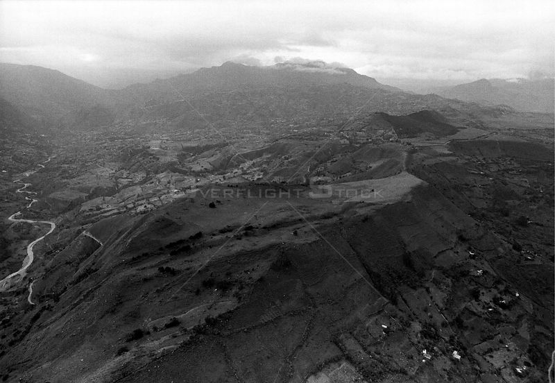 COLOMBIA Andes -- Aerial picture of the Colombian Andes south of Bogota -- 01/1997 -- Picture © Jon Mitchell / Lightroom Photos