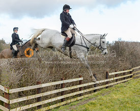 Dick Wise jumping a fence at Burrough House