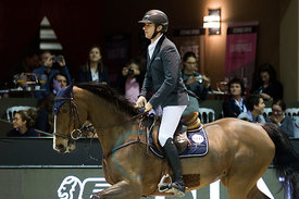 Bordeaux, France, 3.2.2018, Sport, Reitsport, Jumping International de Bordeaux - Prix HOTEL BURDIGALA .Trophée BORDEAUX METROPOLE. Bild zeigt Gregory WATHELET (BEL) riding Iphigeneia de Muze (5*)...3/02/18, Bordeaux, France, Sport, Equestrian sport Jumping International de Bordeaux - Prix HOTEL BURDIGALA .Trophée BORDEAUX METROPOLE. Image shows Gregory WATHELET (BEL) riding Iphigeneia de Muze (5*).