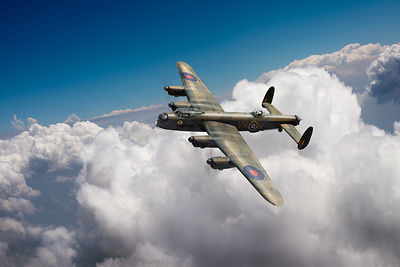 Lancaster KB799 above clouds