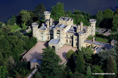 aerial photograph of Eastnor Castle Herefordshire England UK