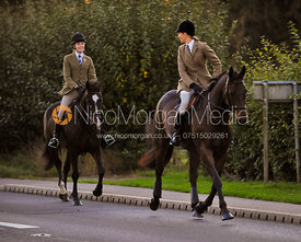 - The Cottesmore Hunt at the Water Tower, Burley on the Hill.