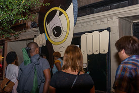 interactive art photography from  Art All Night (Nuit Blanche) DC 2014