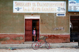 Bicycle outside 1st May transport sindicate office, Camargo, Chuquisaca Department, Bolivia