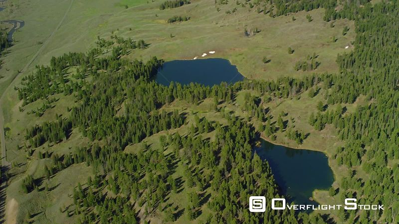 Buck Lake and Trout Lake sit near the Lamar River in Yellowstone National Park