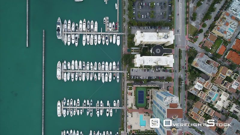 Meloy Channel Marina Drone Video South Beach Miami Florida