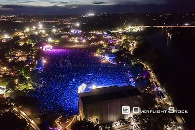 Aerial Drone Video timelapse Paul McCarney 2018 Austin City Limits Music Festival Texas