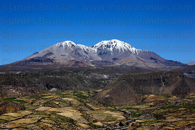 Nevados de Putre / Taapaca volcano and fields above Putre , Region XV , Chile
