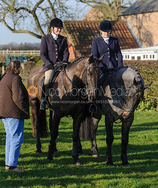 The Lady Sarah McCorquodale - Belvoir Hunt at Grange Farm, Scalford 8/12