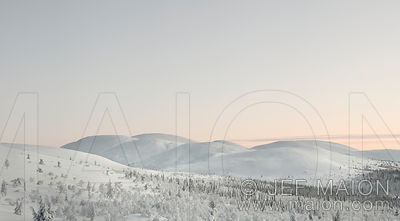 Snowcapped hill landscape