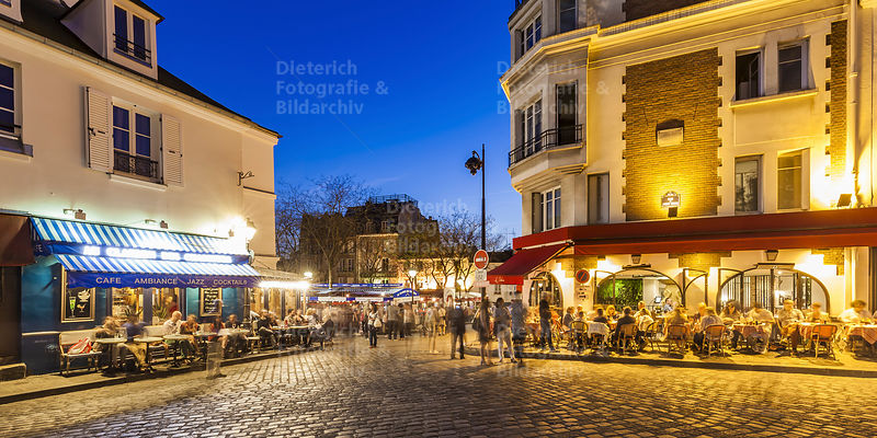Restaurants, Place du Tertre, Montmartre, Paris
