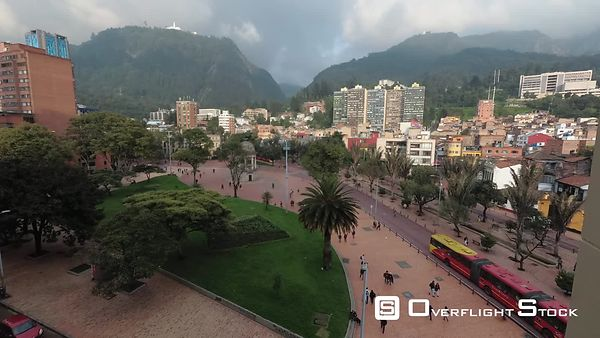 TimeLapse of a City Square Bogota Colombia