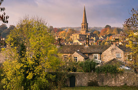 October morning in Bakewell, Derbyshire, Peak District