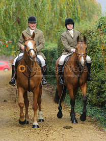 Johnnie Arkwright at the meet - The Cottesmore at Langham.