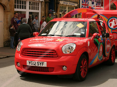 Coca Cola Mini Countryman Car at Olympic Torch Relay