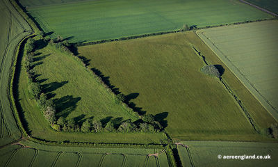 aerial photograph of High Banks Roman / Iron Age Fort at Ovington Norfolk England UK.