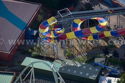 Aerial view of Thorpe Park, Chertsey, Surrey