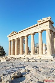 Famous Parthenon temple on the Acropolis, Athens, Greece